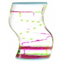 Liquid Motion Bubbler (Green Pink)