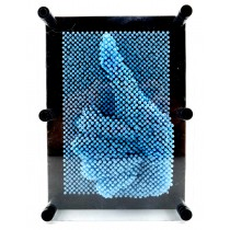 3D Pin Art Impression Board (Light Blue)