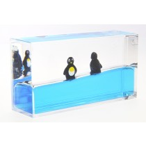 Liquid Penguin Paperweight - Mini