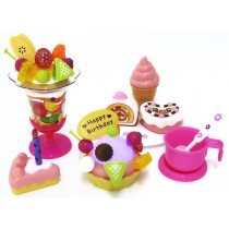 Play Food Set with Cupcake, Cakes, Ice Cream & Sundae