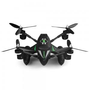 Triphibian RC Quadcopter, 2.4Ghz Land Air And Sea Drone (Black)