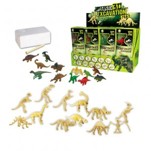 Dinosaur Skeleton Fossil Excavation Kit (Pack of 12) Variety of Dinosaurs