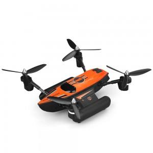 Triphibian RC Quadcopter, 2.4Ghz Land Air And Sea Drone (Orange)