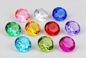 Bag Of 24 Colorful Pirate Gems For Treasure Chests Or Decoration