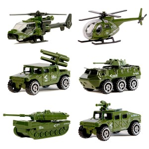 Diecast Military Vehicle Playset (6 Vehicles)