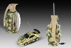 "3"" Mini RC Grenade Camouflage Car (Yellow)"