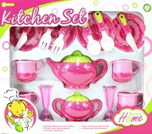 Deluxe Pink Tea Set