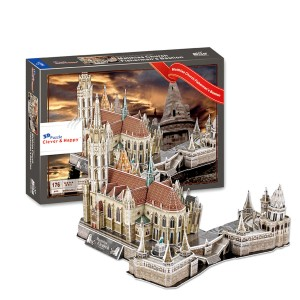 Matthias Church Fisherman's Bastion 3D Puzzle, 176 Pieces