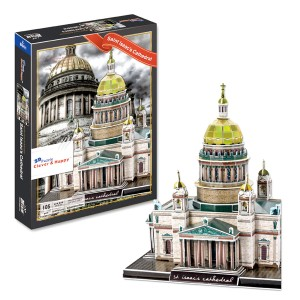 Saint Isaacs Cathedral 3D Puzzle, 105 Pieces