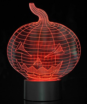 3D Pumpkin Laser Cut Precision LED Lights