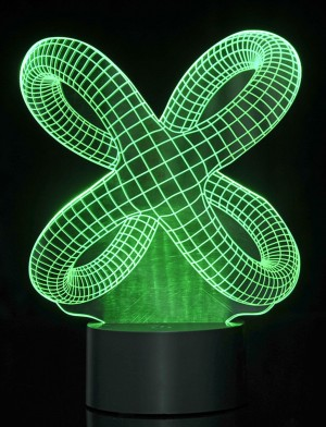 3D Crisscross Rings Laser Cut Precision LED Lights