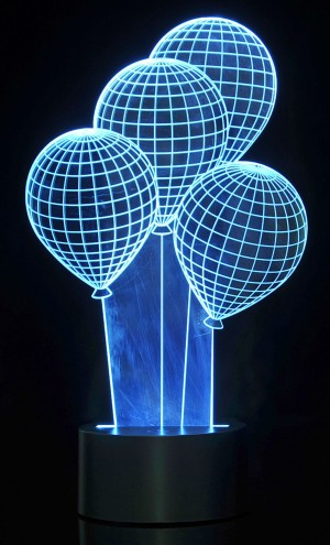 3D Balloons Laser Cut Precision LED Lights