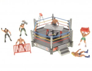 Smack, Wrestling Stage Ring With 12 Figures