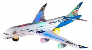Airbus Plane With Flashing Lights and Sounds (Blue)