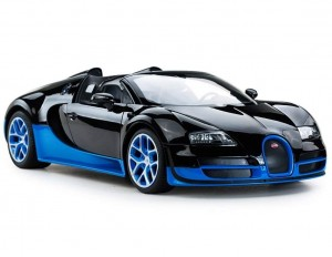 1:14 RC Bugatti Veyron Grand Sport Vitesse Car (Black/Blue)