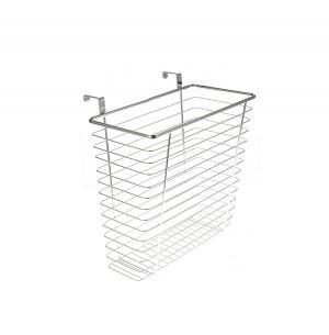 Chrome Waste Basket For Kitchens Or Restrooms