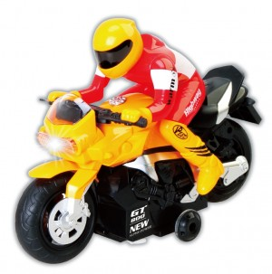 R/C Radio Control Motorcycle Car Toy Yellow