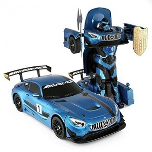 1:14 RC Mercedes-Benz GT3 2.4ghz Transformer Dancing Robot Car (Blue)