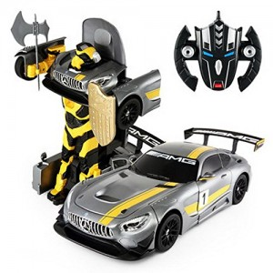 1:14 RC Mercedes-Benz GT3 2.4ghz RC Transformer Dancing Robot Car (Gray)