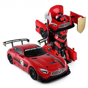 1:14 RC Mercedes-Benz GT3 2.4ghz RC Transformer Dancing Robot Car (Red)