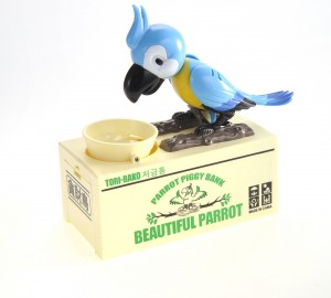Cute Parrot Piggy Bank (Blue)