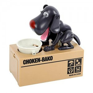 Dog Piggy Bank (Black)