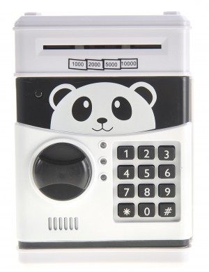 Cartoon Panda Electronic Password Protected Piggy Coin Bank