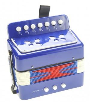 Children's Musical Instrument Accordion Blue