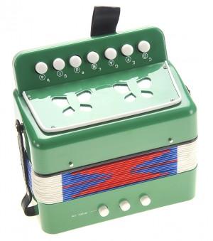 Children's Musical Instrument Accordion Green