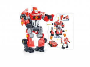3-in-1 Take-A-Part Robot Toy Playset (Red)