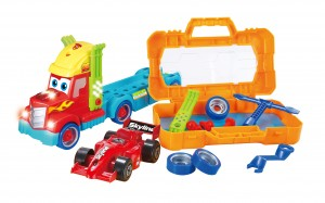 Take-A Part Carrier Tool Box With Racing Car And Lights & Sounds