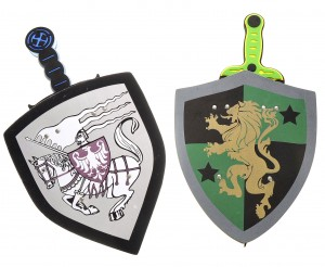 Sword and Shield Play Set With Unique Designs For Both The Sword And The Shield