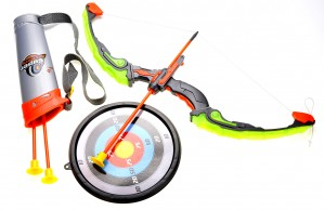 Bow And Arrow Playset With Quiver And Target (Green)