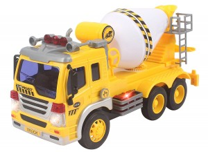 Friction Powered Cement Mixer Truck Toy