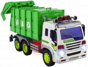 Friction Powered Garbage Truck Toy