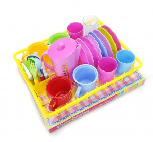 Play Dishes Kitchen Wash and Dry Tea Playset