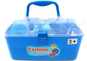 Medical Box Blue Doctor Nurse Medical Kit Playset