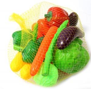 Bag of Vegetables Food Playset