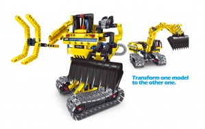 Mechanical Master Excavator, 2 in 1 engineering toy brick for boys