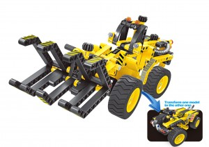 Building Blocks Bricks Construction Kit STEM Toy (Bulldozer), 301pcs