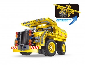 361pcs Engineering Bricks Construction Kit, Educational Building Dump Truck and Airplane