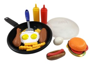 Fast Food Cooking Pan Kitchen Play Food Set