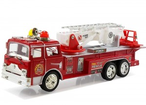 Bump and Go Rescue Fire Truck with Ladder, Lights, and Sound