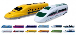 Pull Back Toy Train Set of 12