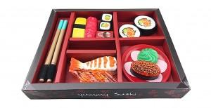 Japanese Sushi Dinner Bento Box Pretend Play Cutting Food Set 21pcs