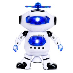 Electronic Walking Dancing Robot Toys W/ Music and Lights