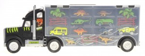 "22"" Transport Dinosaurs Car Carrier Truck Toy Includes Dinosaur Toys, Cars and Helicopter"