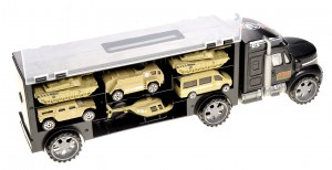 Military Transport Truck - Includes Tanks, Helicopters, Additional Slots for Other Vehicles