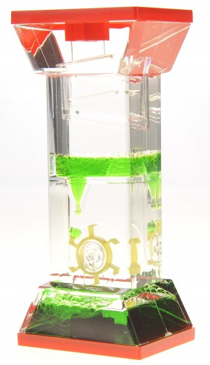 Liquid Motion Bubbler With One Wheel (Green)