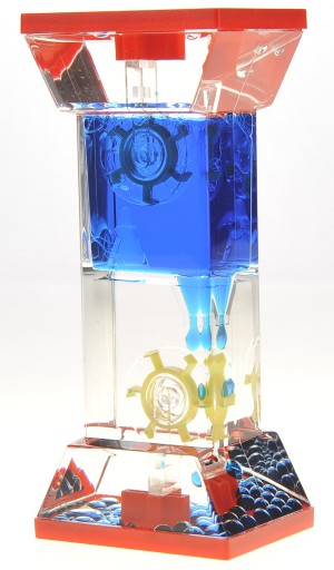 Liquid Motion Bubbler With Two Wheels (Blue)